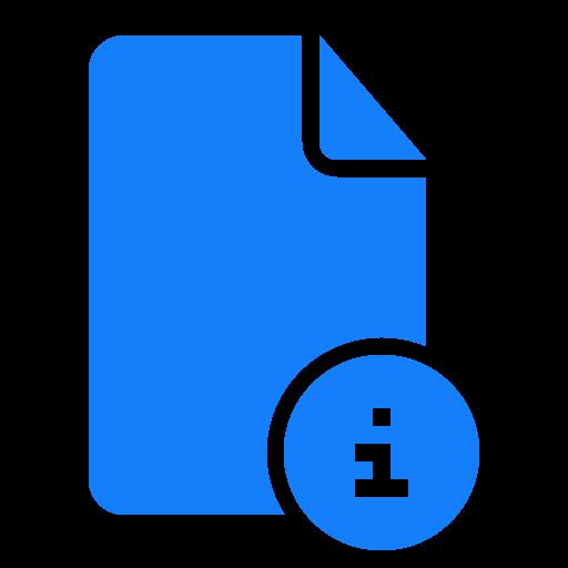 document, information icon