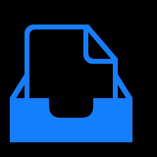 document, inbox icon