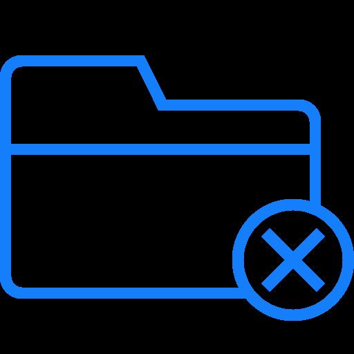 cancel, folder icon