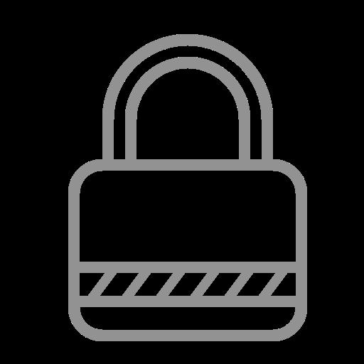 lock, stripes icon