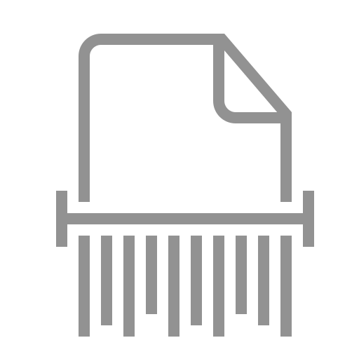 document, shred icon