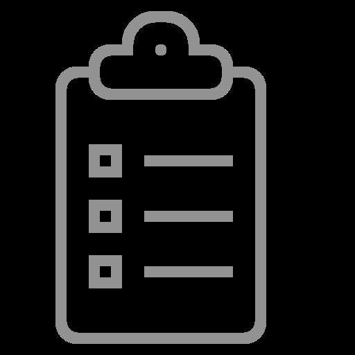 clipboard, list icon