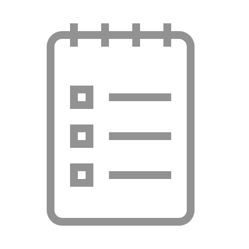 list, notebook icon