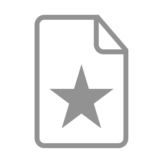 document, star icon