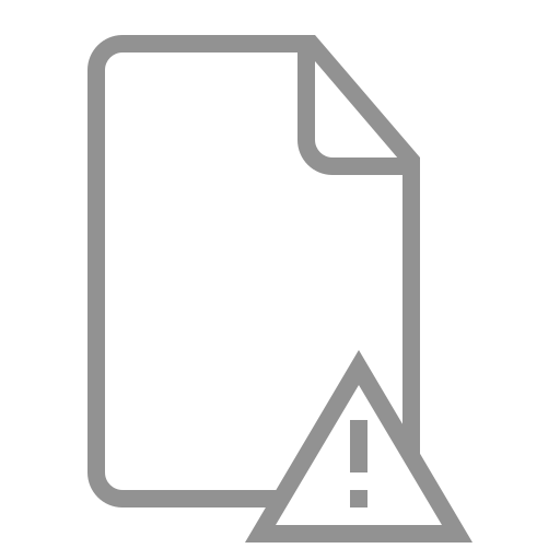 document, error icon