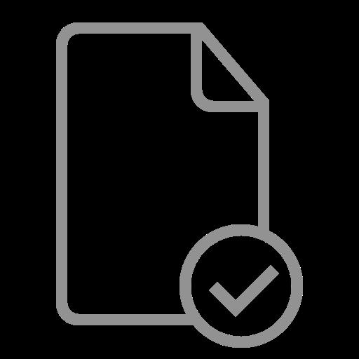 checked, document icon
