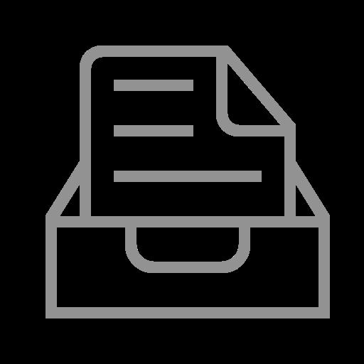 document, inbox, text icon