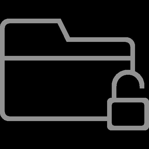 folder, unlocked icon
