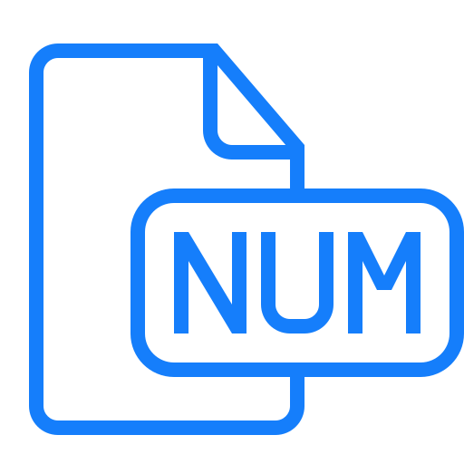 document, file, numbers icon