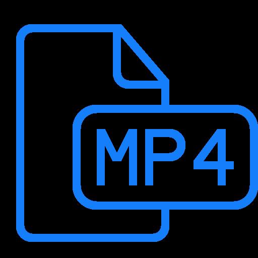 document, file, mp4 icon