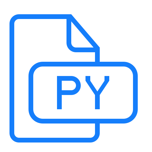 document, file, py icon