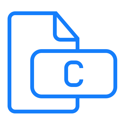 c, document, file icon
