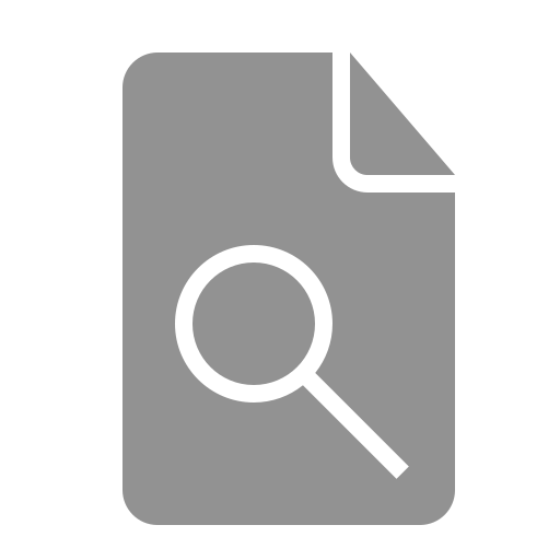 document, search icon