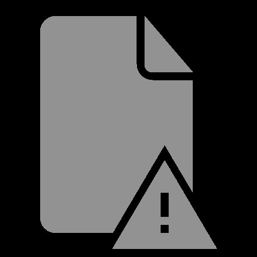 document, error icon