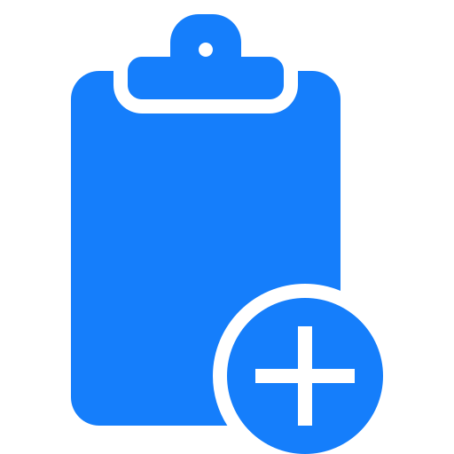 add, clipboard icon