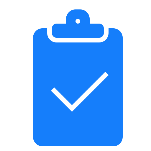 checked, clipboard icon