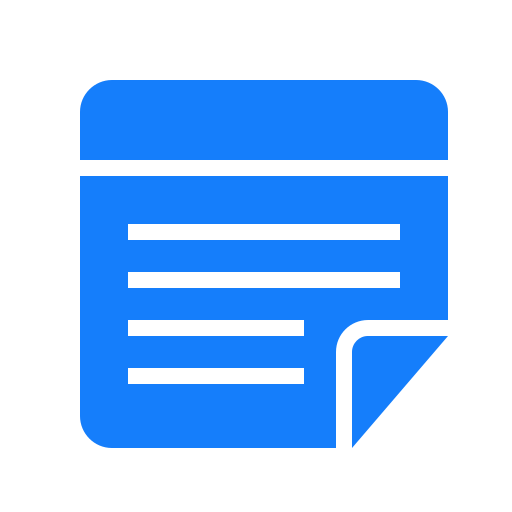 note, text icon