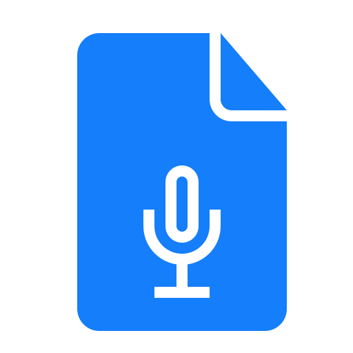 document, recording icon
