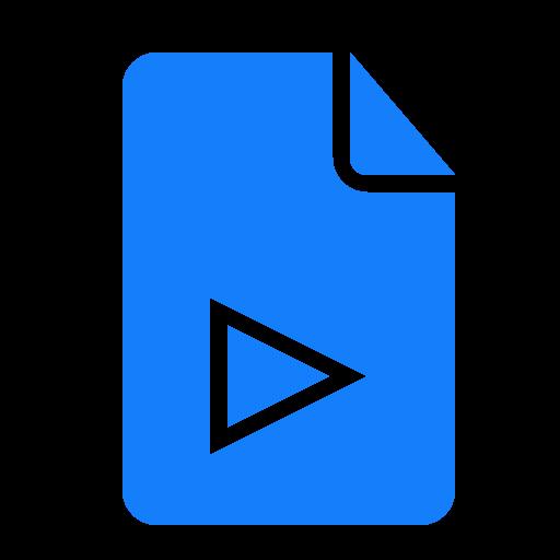 document, play icon