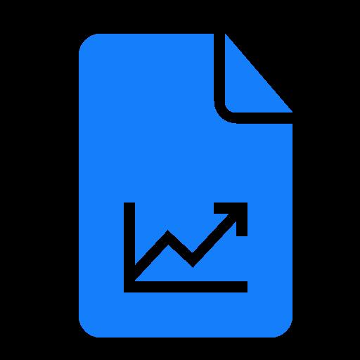 document, graph icon