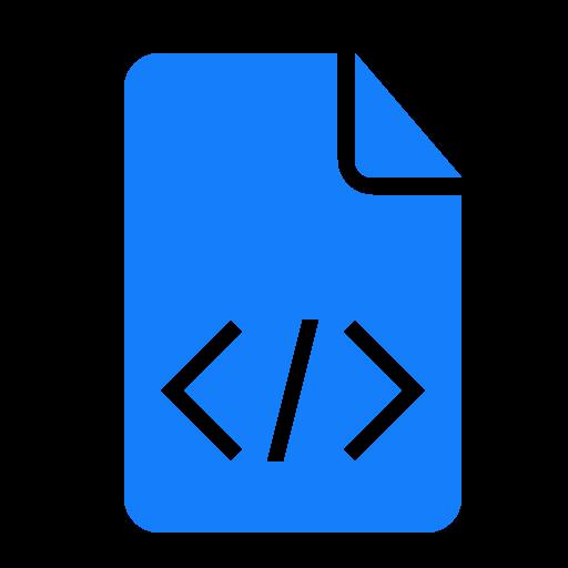 code, document icon