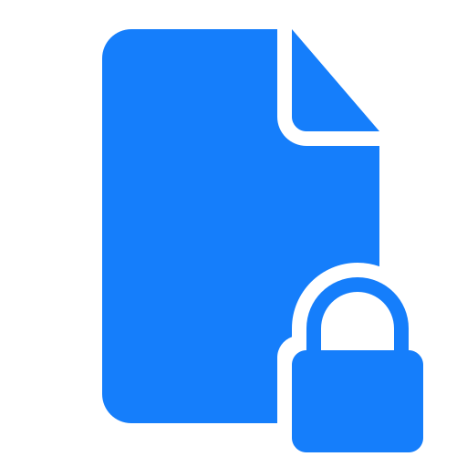 document, locked icon