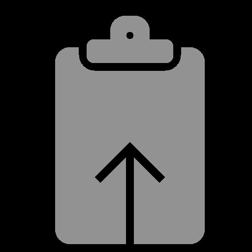 clipboard, upload icon