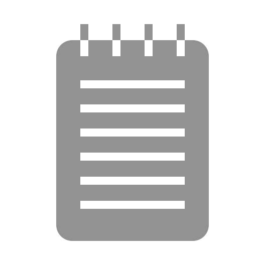 notebook, text icon