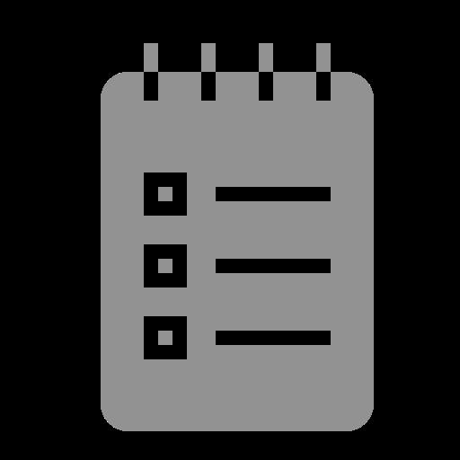 list, notebook icon
