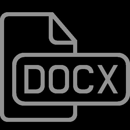 document, docx, file icon