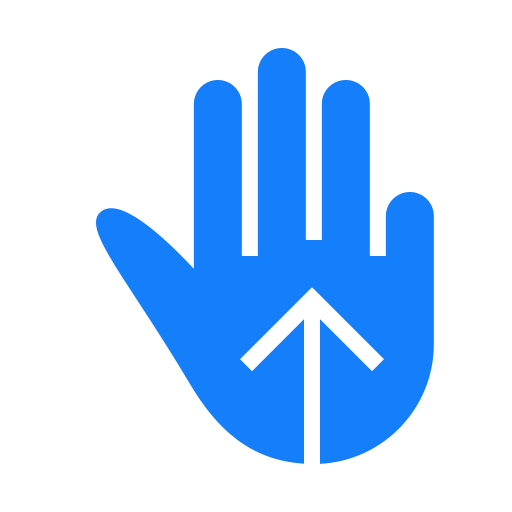 fingers, swipe, three, up icon