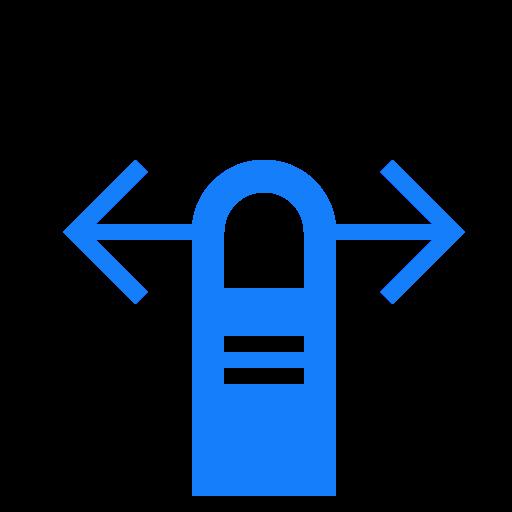finger, horizontally, one, swipe icon