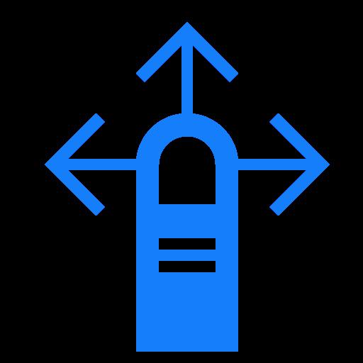 finger, one, swipe icon