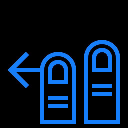 fingers, left, swipe, two icon