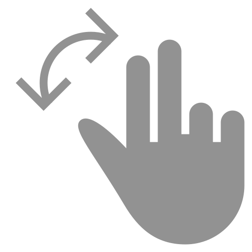 fingers, rotate, two icon