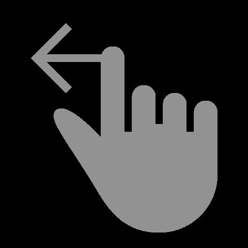 finger, left, one, swipe icon