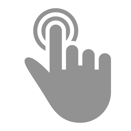 double, finger, one, tap icon