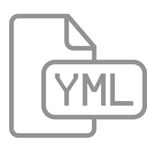 document, file, yml icon