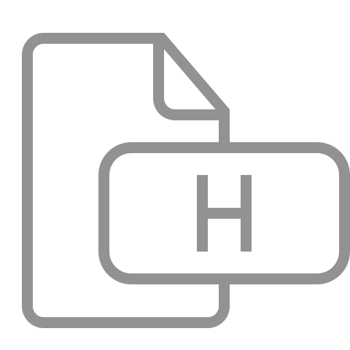 document, file, h icon