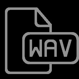 document, file, wav icon