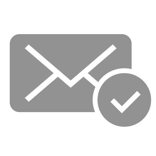 checked, mail icon