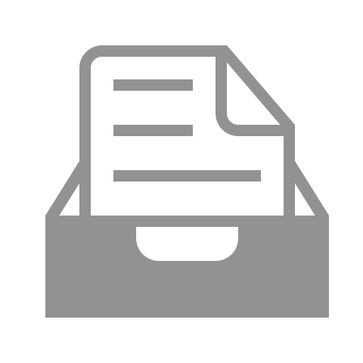 document, inbox, text icon