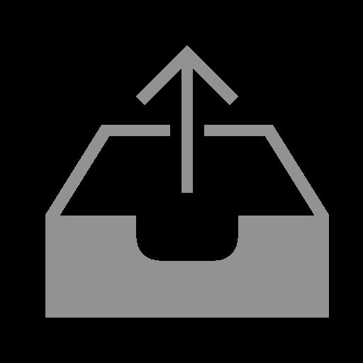 inbox, upload icon