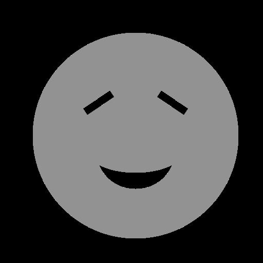 amused, closed, eyes, face icon