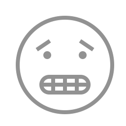 face, teeth, worried icon
