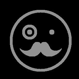 face, moustache icon
