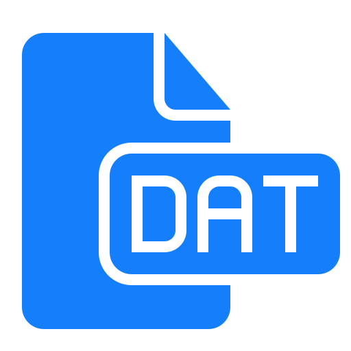 dat, document, file icon