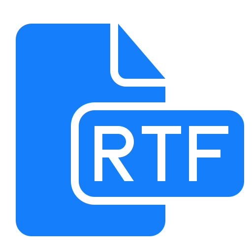 document, file, rtf icon