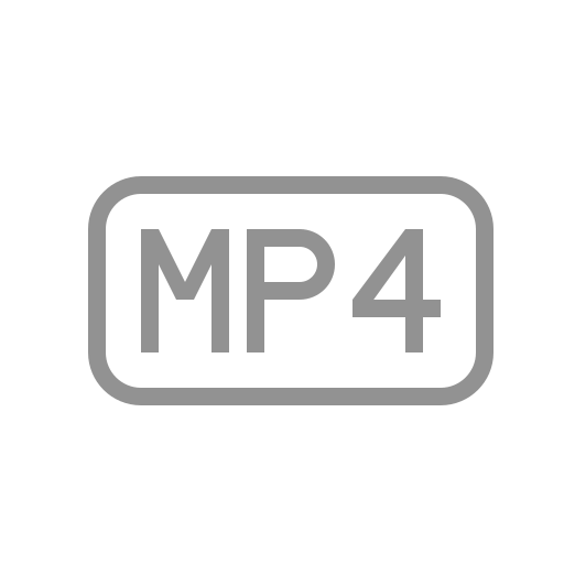file, mp4 icon