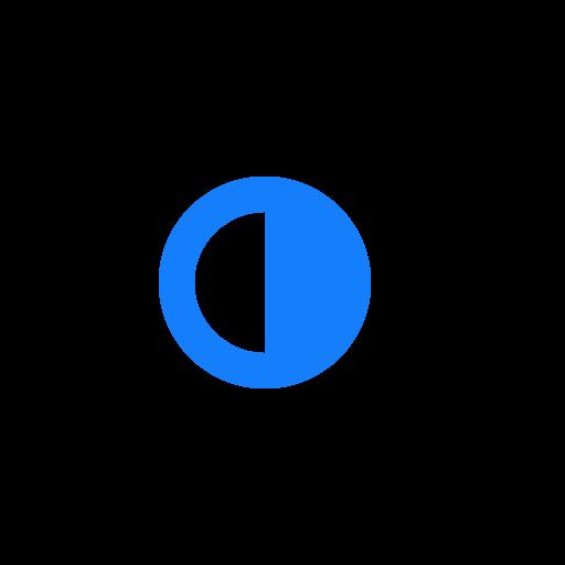 half, moon icon
